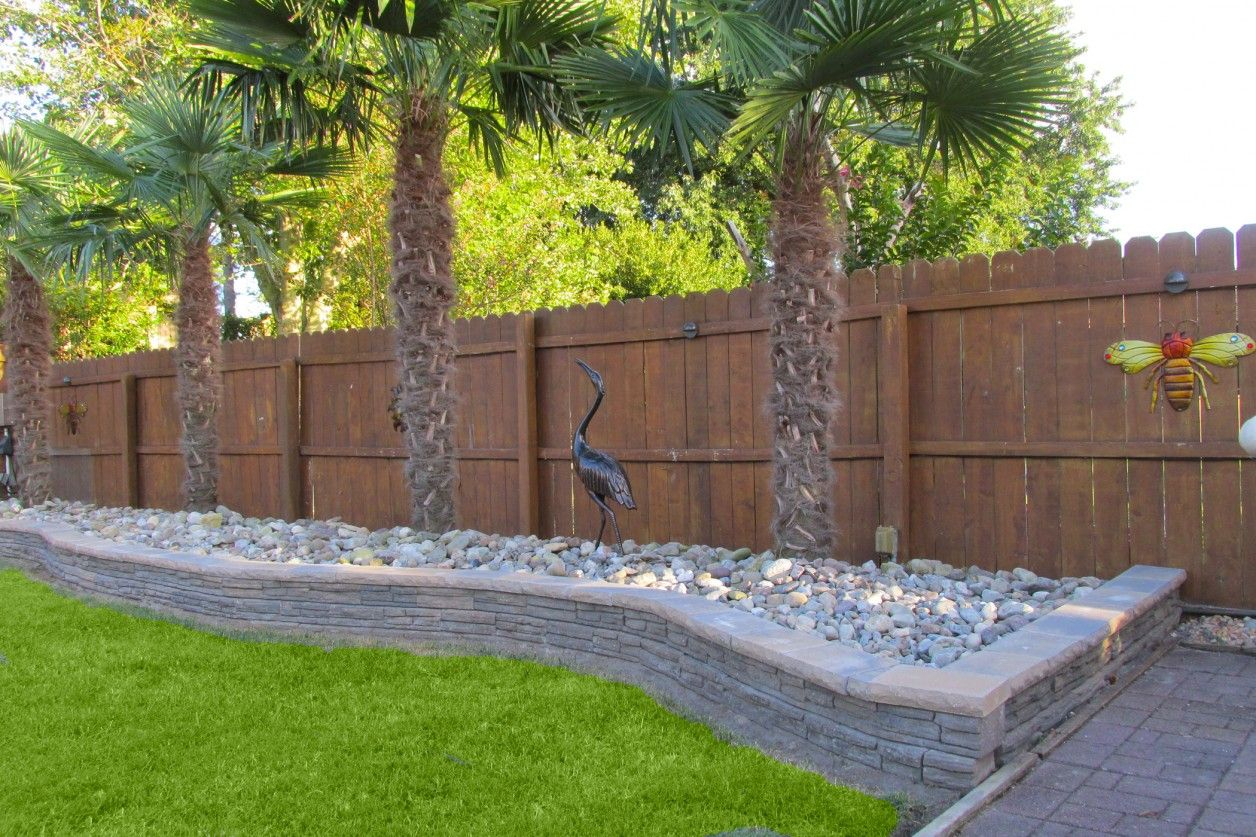 Best Driveway Landscaping Ideas With Fence Landscape Backyard with Retaining Wall Ideas For Backyard