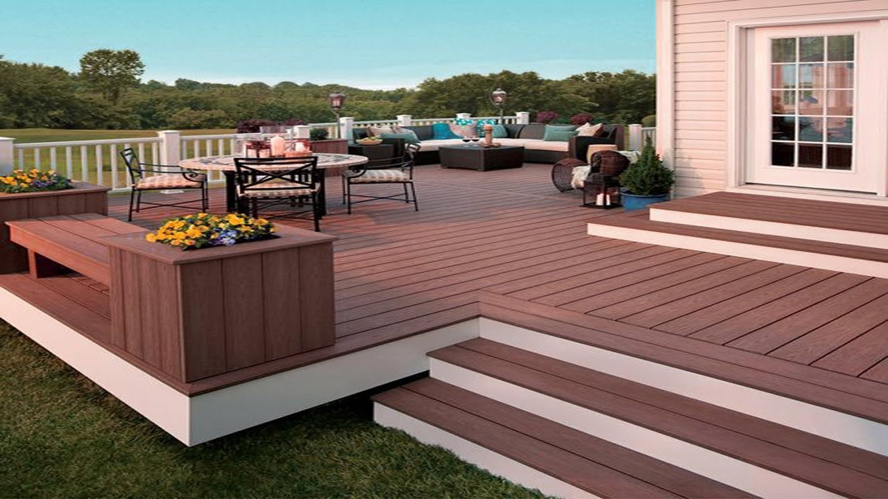Best Wooden Decking Outdoor Ideas Backyard Patio Deck Ideas Youtube inside Patio Deck Ideas Backyard