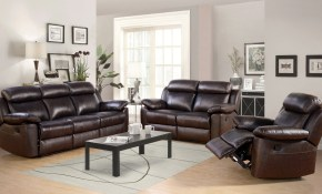 Breakwater Bay Oliver Reclining Leather 3 Piece Living Room Set throughout Leather Living Room Set