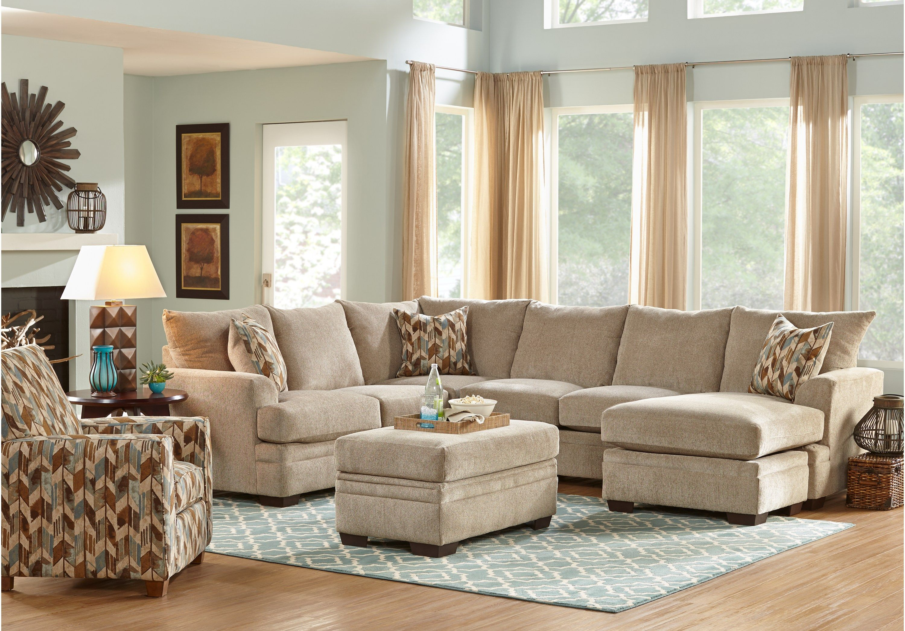 Brenton Court Platinum 3 Pc Sectional Living Room In 2019 French within 10 Smart Tricks of How to Build Rooms To Go Living Room Sets