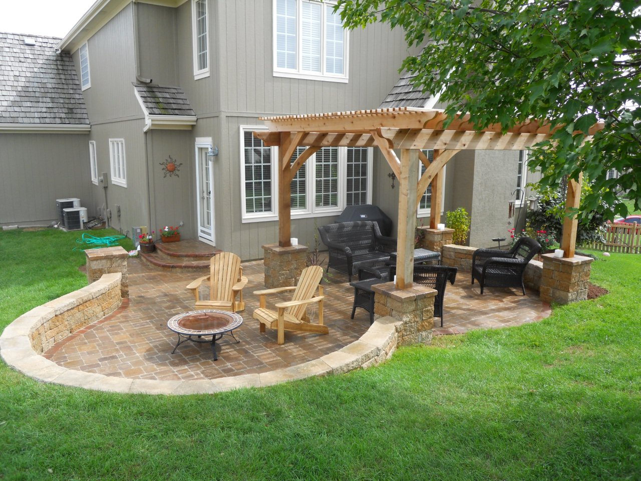 Brick Paver Patio Design Ideas Home Citizen pertaining to 13 Some of the Coolest Initiatives of How to Improve Backyard Stone Patio Ideas