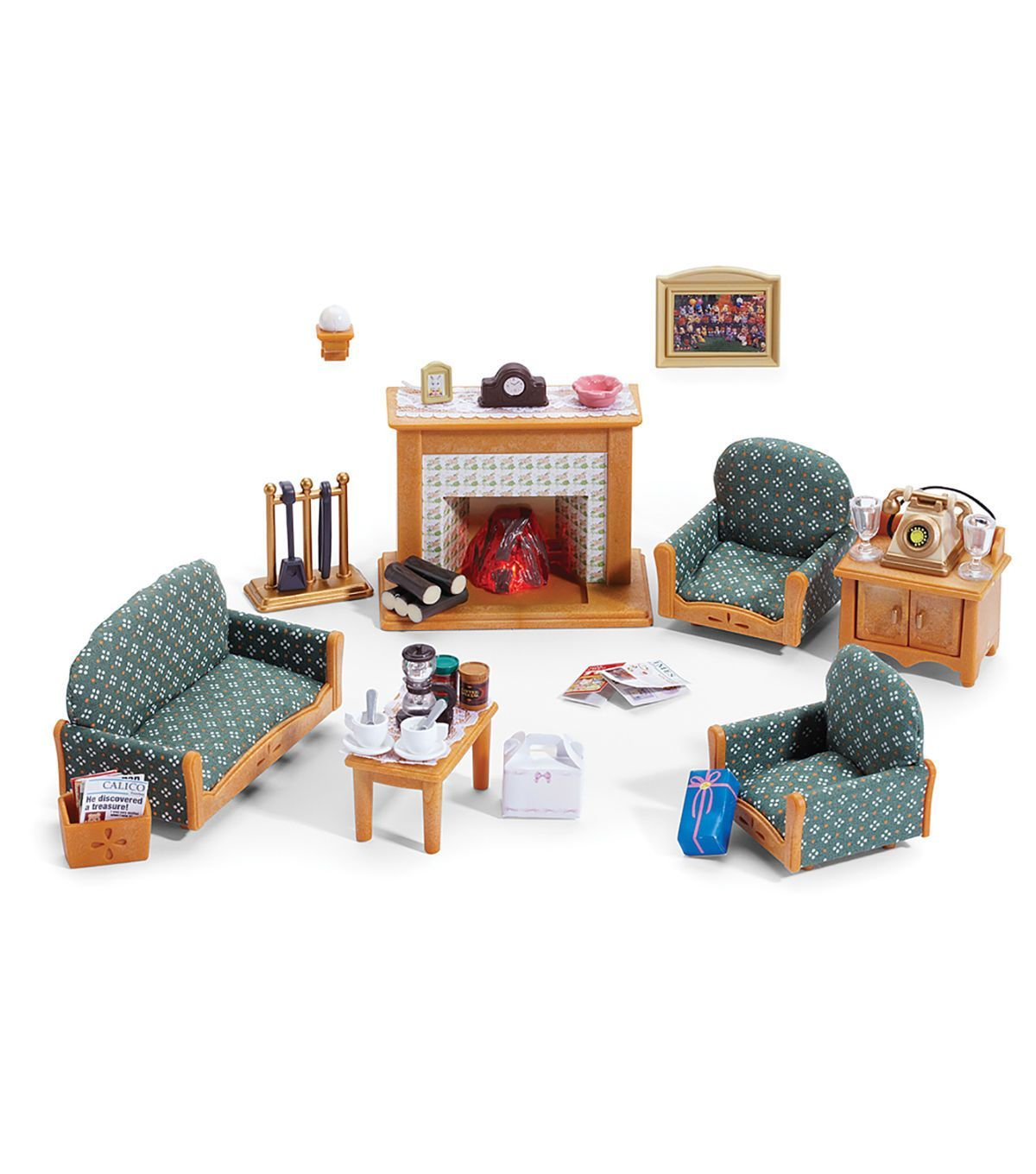 Calico Critters Deluxe Living Room Set Products Famlias pertaining to Sylvanian Families Cosy Living Room Set