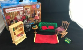 Calico Critters Sylvanian Families Cosy Living Room Set Rare Very inside Sylvanian Families Cosy Living Room Set