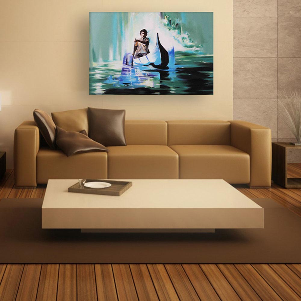 Canvas Painting Modern Art Wall Painting For Living Room Bedroom intended for 10 Some of the Coolest Designs of How to Makeover Modern Art Bedroom