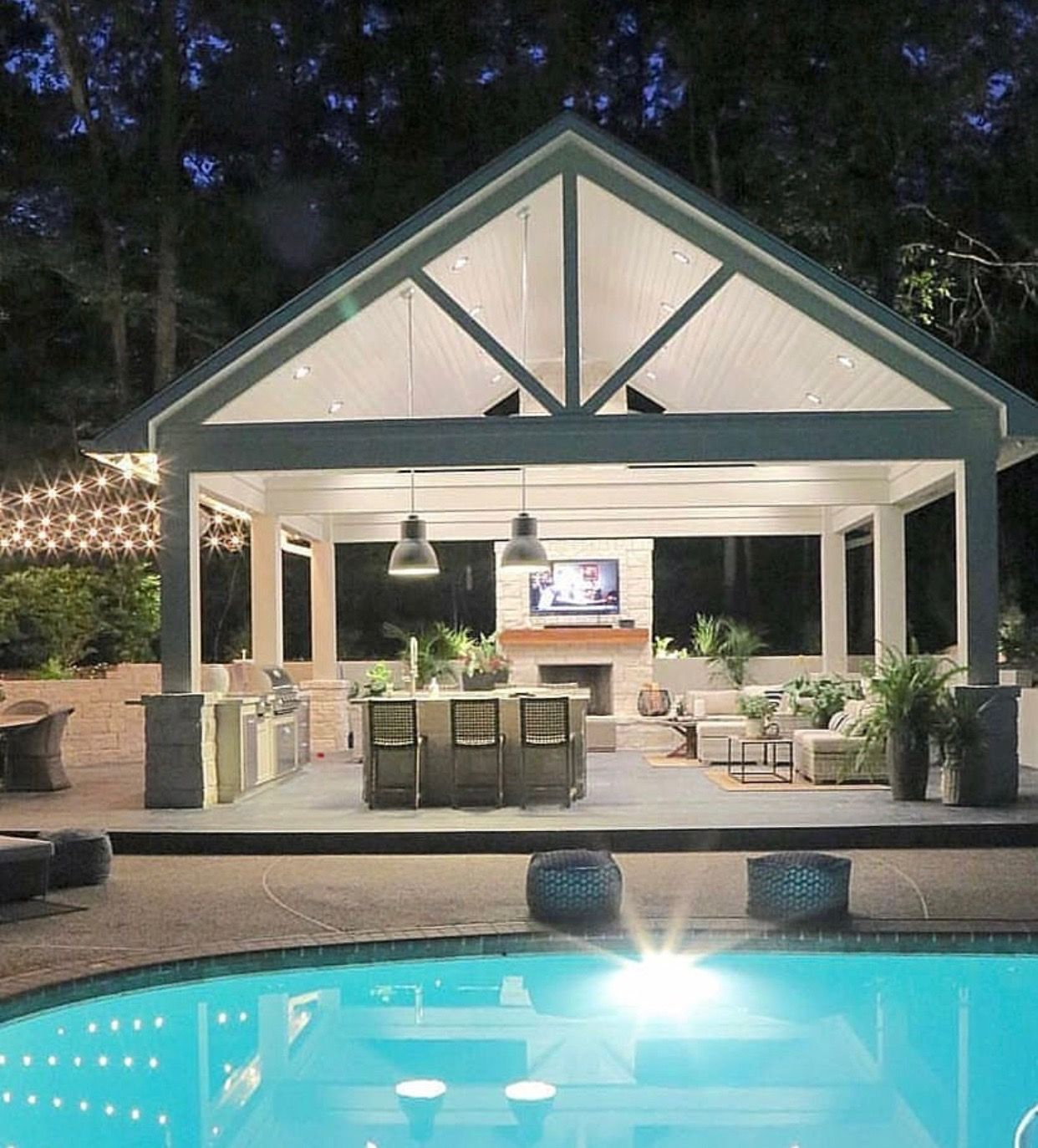 Carriage Crossing Pool House Inspiration In 2019 Outdoor pertaining to 13 Clever Designs of How to Make Backyard Pool House Ideas