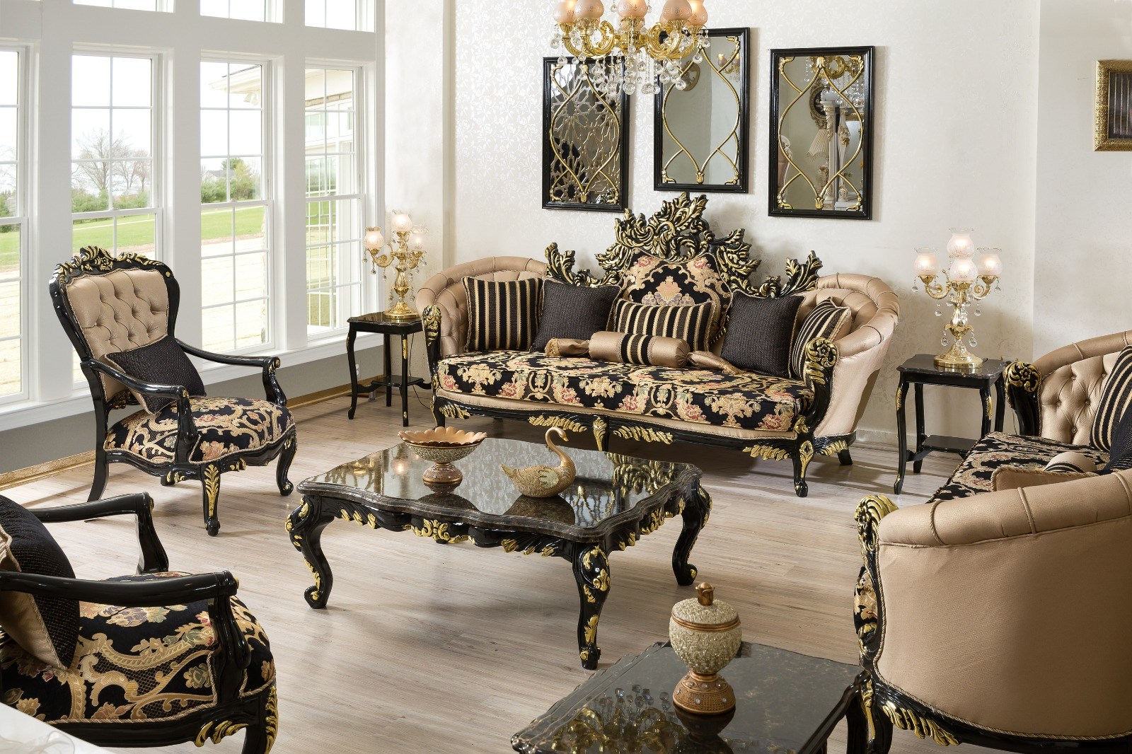 Classic Black Living Room Classic Living Room With Black White inside Versace Living Room Set