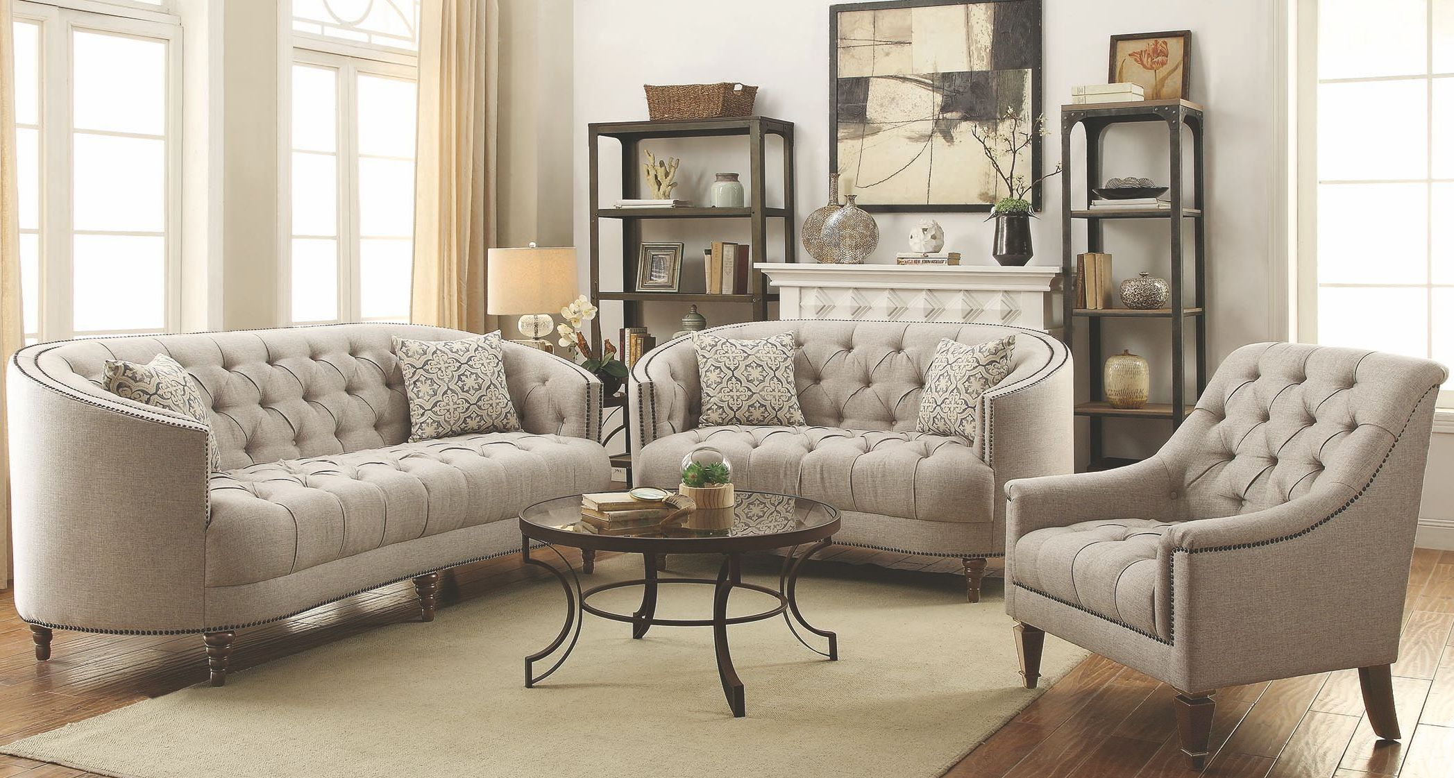 Coaster Avonlea Stone Grey Living Room Set Avonlea Collection 15 throughout Free Living Room Set