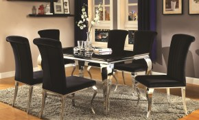 Coaster Carone Contemporary Glam Dining Room Set With Upholstered intended for Chair Set Living Room