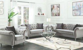 Coaster Frostine Silver Living Room Set Frostine Collection 13 with Living Room Set