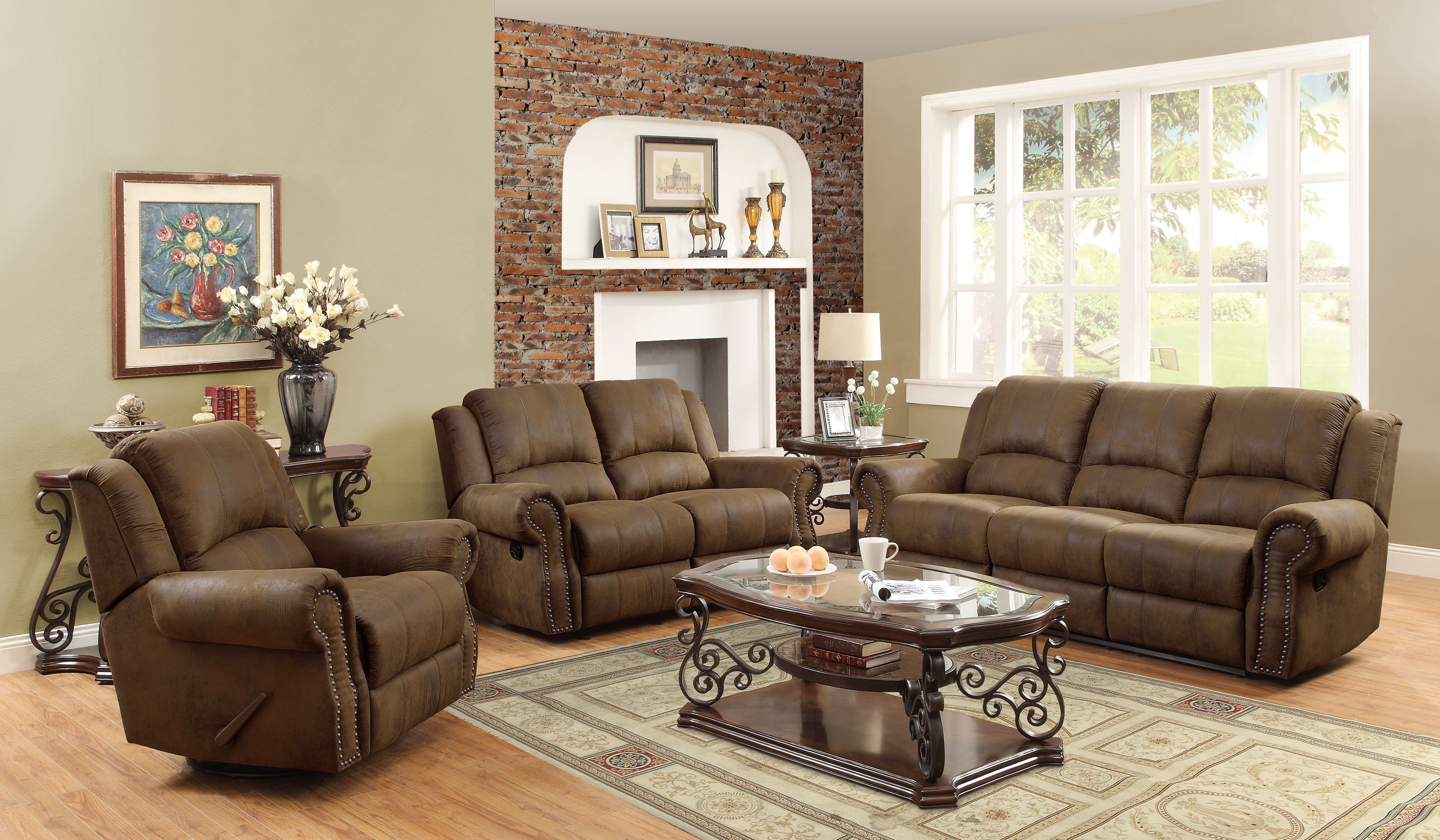Coaster Sir Rawlinson Coated Microfiber Motion Living Room Set In pertaining to 12 Smart Ideas How to Improve Microfiber Living Room Sets