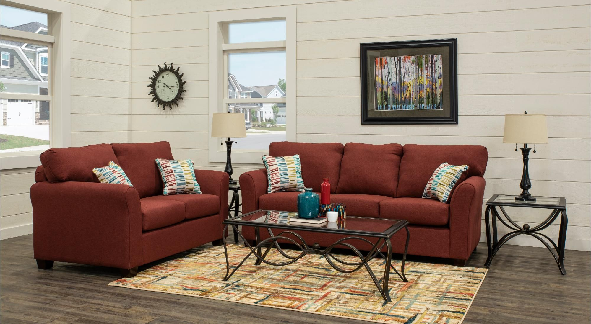 Contemporary Ru Red 7 Piece Living Room Set Wall St Living within 15 Some of the Coolest Designs of How to Craft 7 Piece Living Room Sets