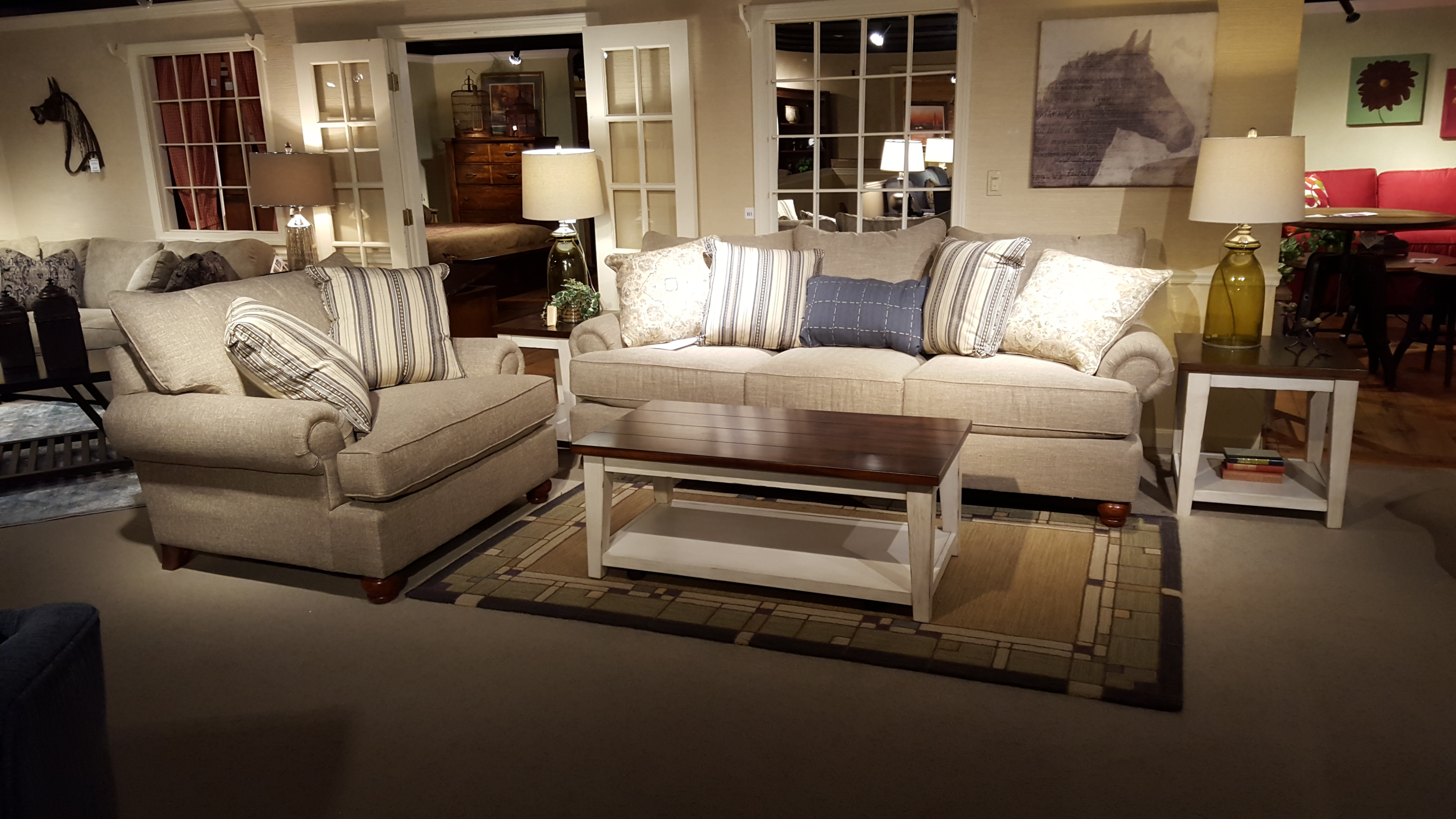 Craftmaster 797050pc One Big Sofa Furniture Store Bangor Maine regarding Dining And Living Room Sets