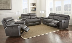 Dakota Reclining Living Room Set Gray Steve Silver Furniture throughout Recliner Living Room Set