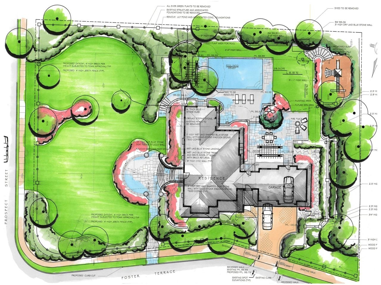 Draw Backyard Landscape Design And How To Draw A Landscape Plan 10 in Plan Backyard Landscaping