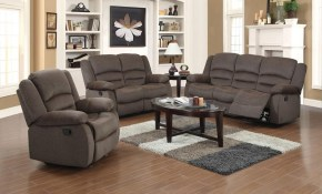 Ellis Contemporary Microfiber 3 Piece Dark Brown Living Room Set with regard to 12 Clever Initiatives of How to Craft Nice Living Room Set