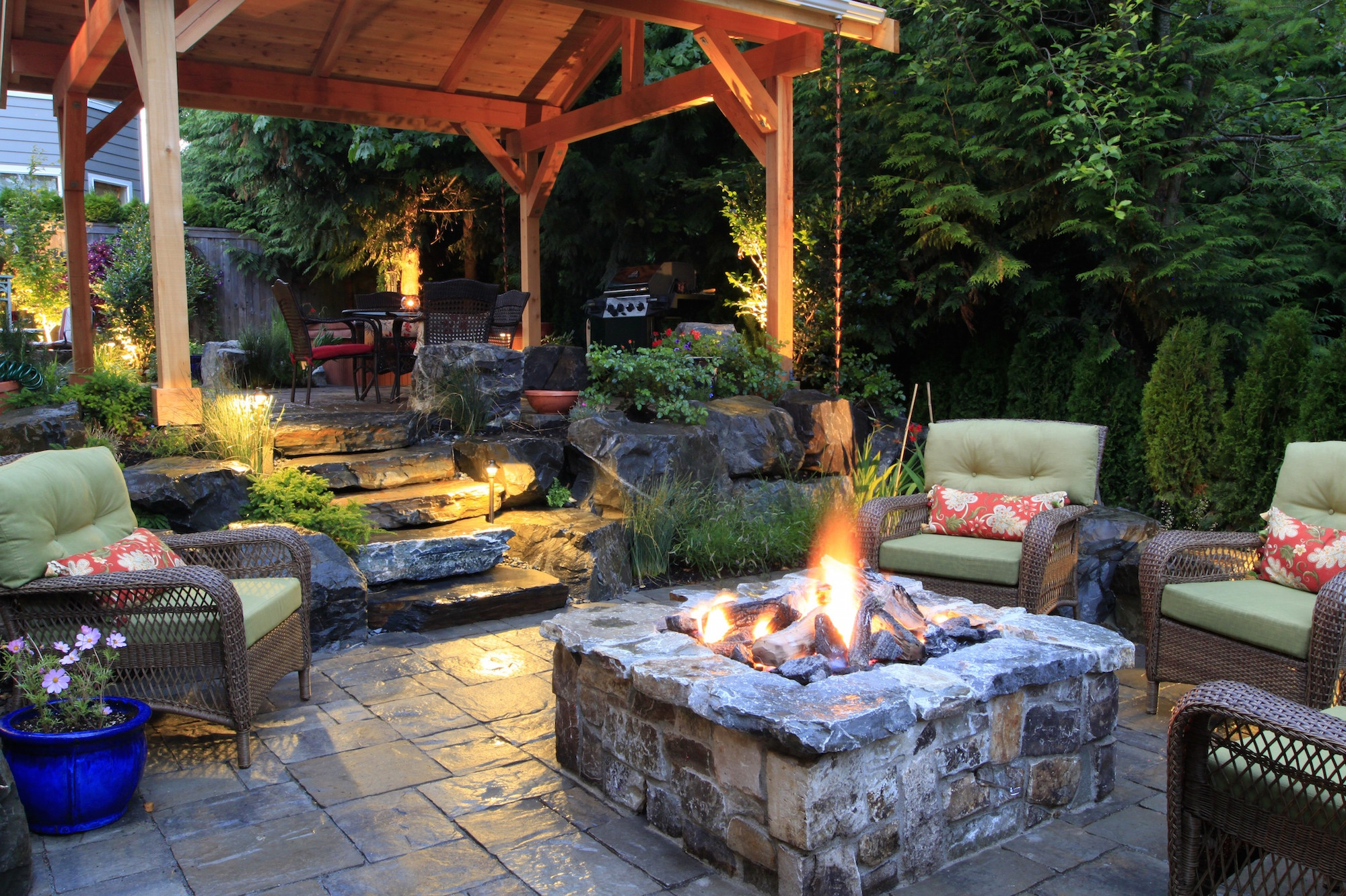 Fire Pit Ideas To Keep You Cozy Year Round Advice Seating Creative within 15 Smart Designs of How to Improve Backyard Landscaping Ideas With Fire Pit