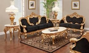 French Gold Leaf Living Room Set Antique Recreations Criterion Chair with Antique Living Room Sets