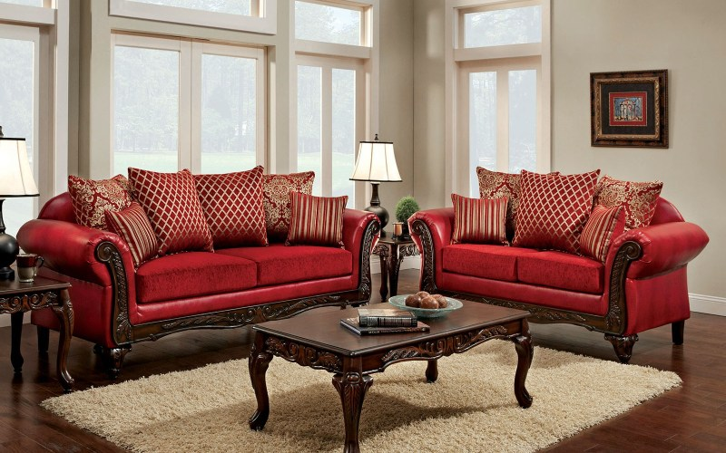 Furniture Of America Marcus Red Living Room Set Marcus Collection within 10 Genius Designs of How to Make Red Living Room Sets For Sale