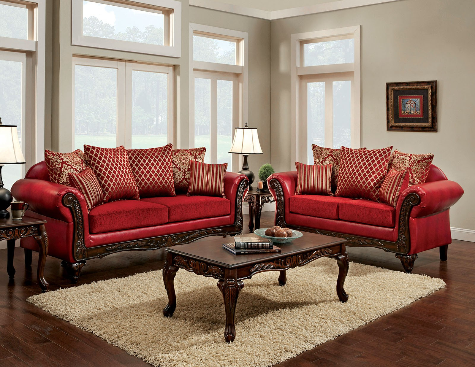 Furniture Of America Marcus Red Living Room Set Marcus Collection within 15 Awesome Designs of How to Makeover Free Living Room Set
