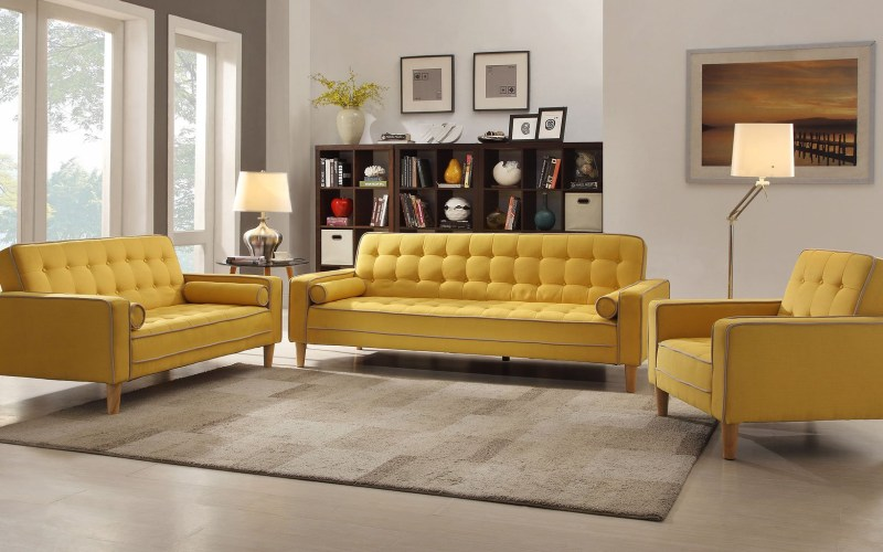 G834 Living Room Set Yellow Glory Furniture Furniture Cart with regard to 15 Awesome Initiatives of How to Craft Yellow Living Room Set