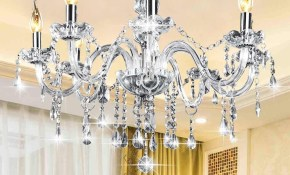 Gorgeous 8 Heads E12 Clear Crystal Chandelier Light Modern for Modern Chandeliers For Bedrooms