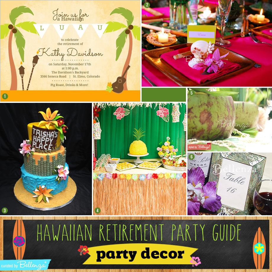 Hawaiian Retirement Party Guide intended for Hawaiian Backyard Party Ideas