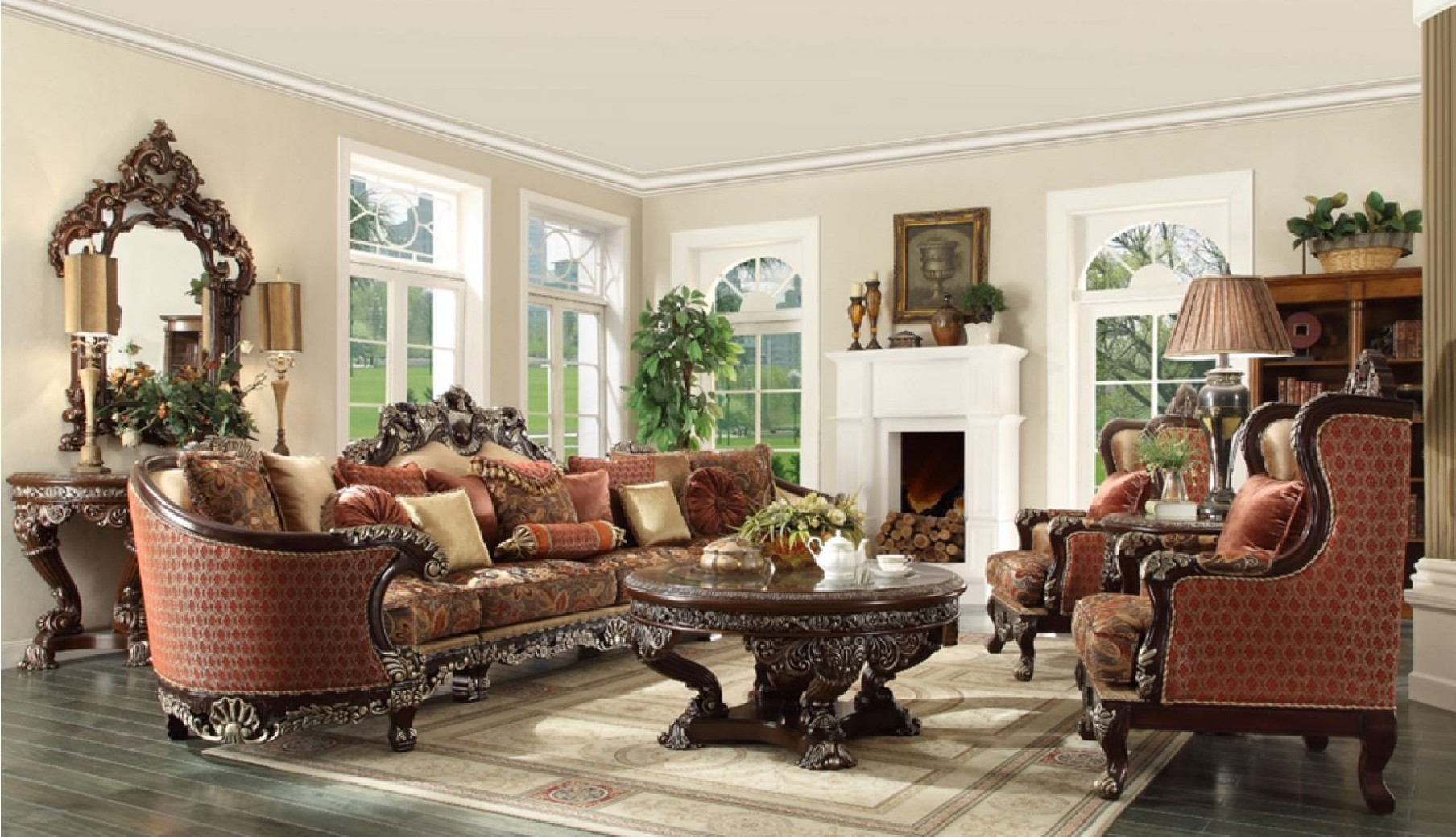 Hd 111 Homey Design Upholstery Living Room Set Victorian European in 10 Genius Tricks of How to Upgrade Upholstered Living Room Sets
