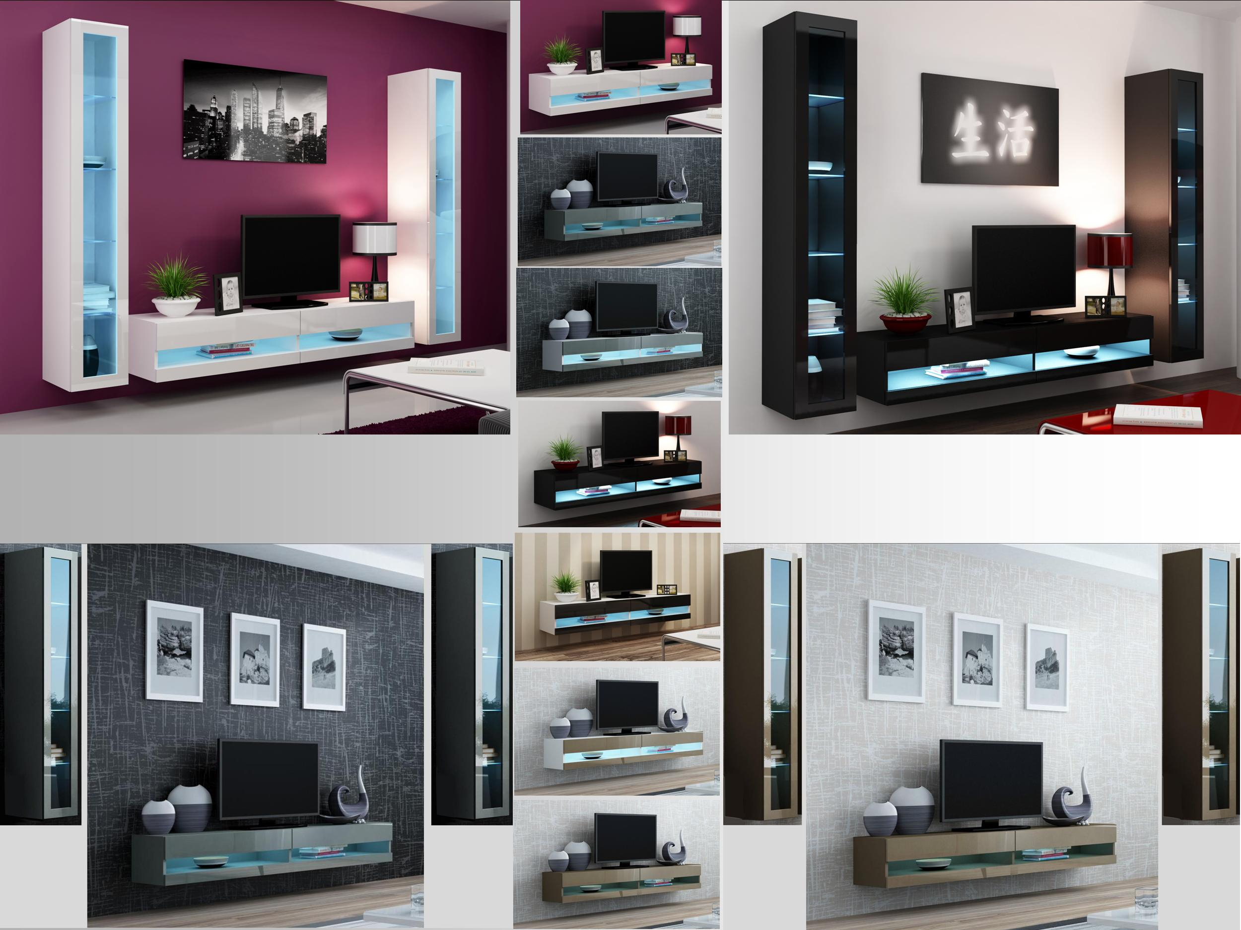 High Gloss Living Room Set With Led Lights Tv Stand Wall Mounted with 14 Genius Ideas How to Improve Living Room Set With TV