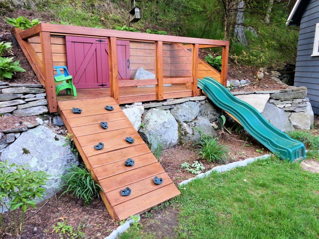 Hillside Playground Built For My Kids To Maximize Space In Our Pics intended for 13 Clever Ideas How to Build Backyard Play Area Landscaping