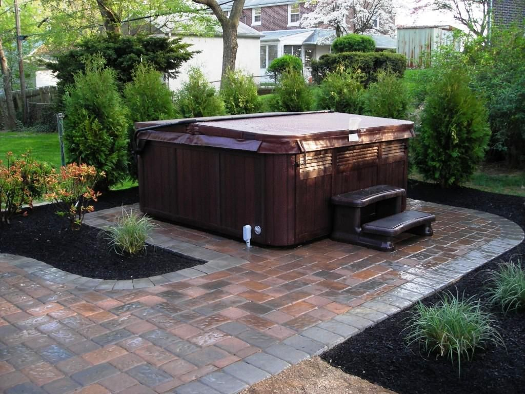 Hot Tub Landscaping Privacy Backyard Hot Tub Landscaping Ideas for 11 Clever Ideas How to Build Backyard Spa Ideas