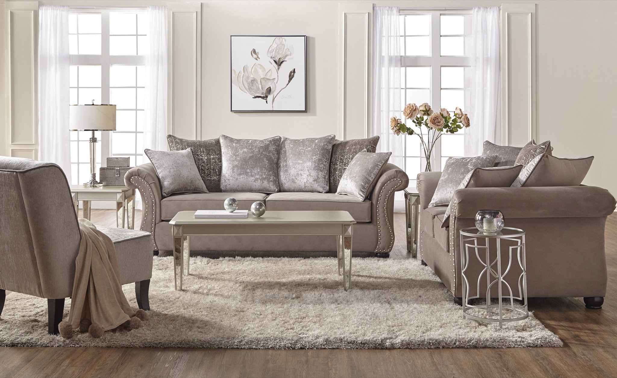 House Of Hampton Bedingfield Contemporary 2 Piece Living Room Set pertaining to 12 Smart Initiatives of How to Upgrade New Living Room Sets