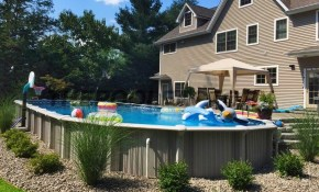 Ideas Above Ground Pool Landscaping Outdoors Pinterest Above inside Backyard Above Ground Pool Landscaping Ideas