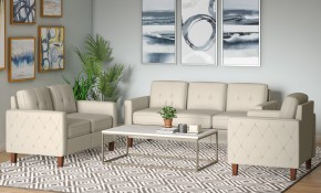 Ivy Bronx Harrad Tufted Mid Century 3 Piece Living Room Set throughout 12 Smart Designs of How to Build Tufted Living Room Set