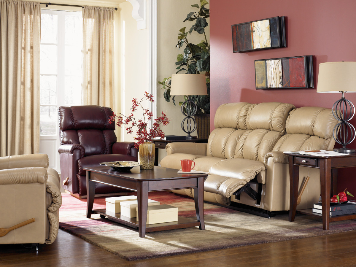 La Z Boy Pinnacle Leather Reclining Living Room Group The in LaZBoy Living Room Set