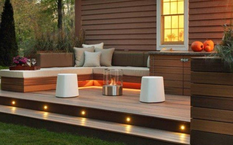Landscaping And Outdoor Building Great Small Backyard Deck Designs inside Small Deck Ideas For Small Backyards