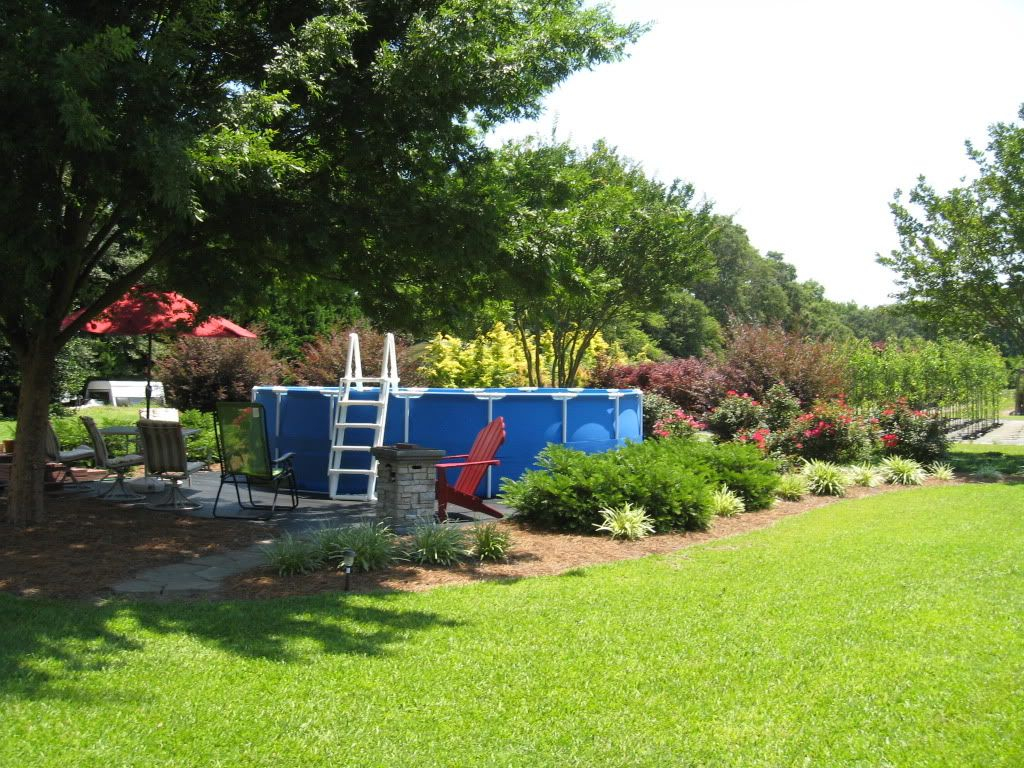 Landscaping Around Base Of Intex Ultra Frame Pools Above Ground regarding 10 Awesome Ideas How to Make Above Ground Pool Backyard Landscaping Ideas