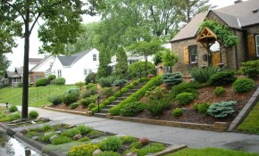 Landscaping For Sloped Front Yard With Steps Home Front Yard in 10 Awesome Designs of How to Make Landscaping For Sloped Backyards