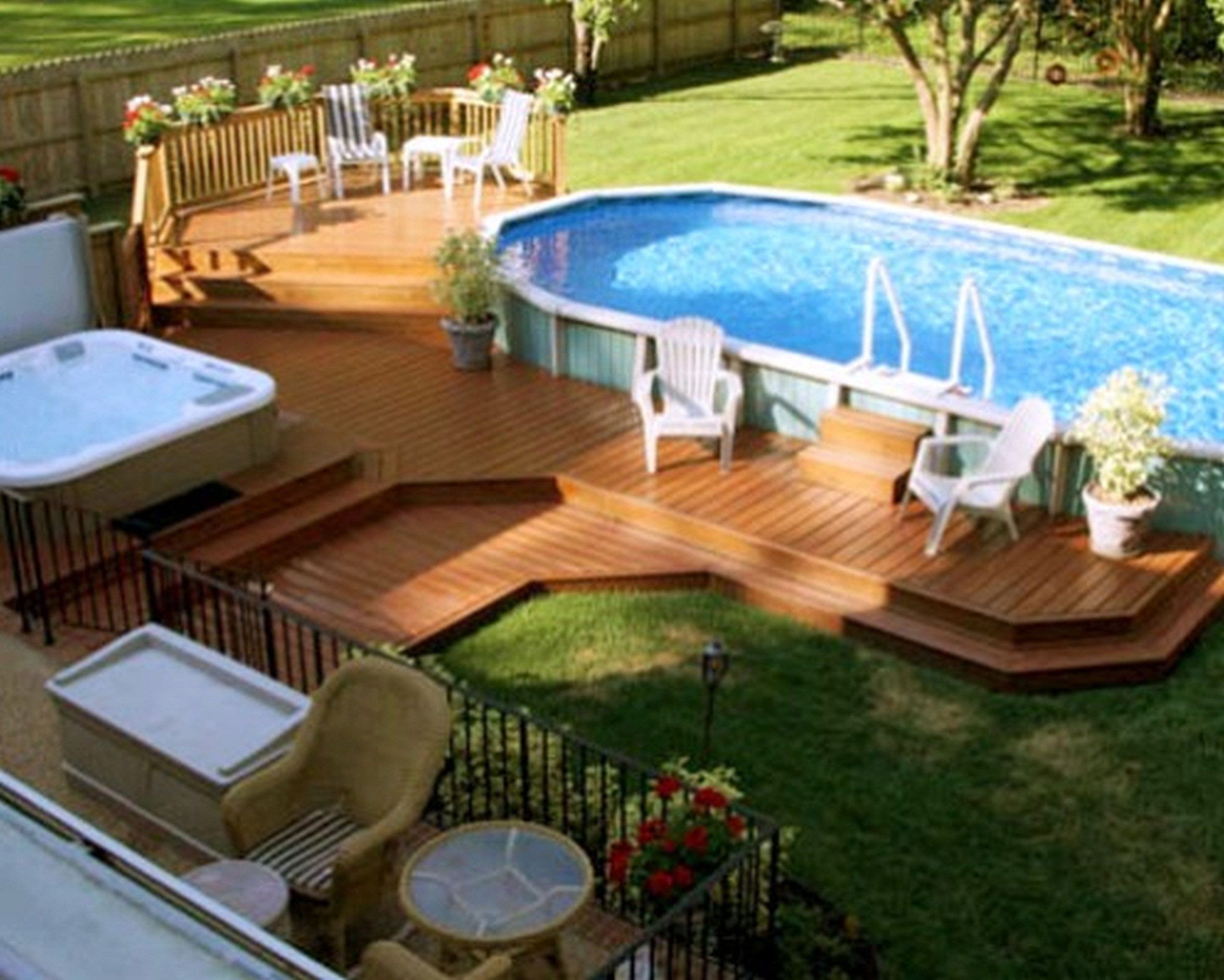 Landscaping Ideas Around Above Ground Pool Randolph Indoor And in Backyard Above Ground Pool Landscaping Ideas