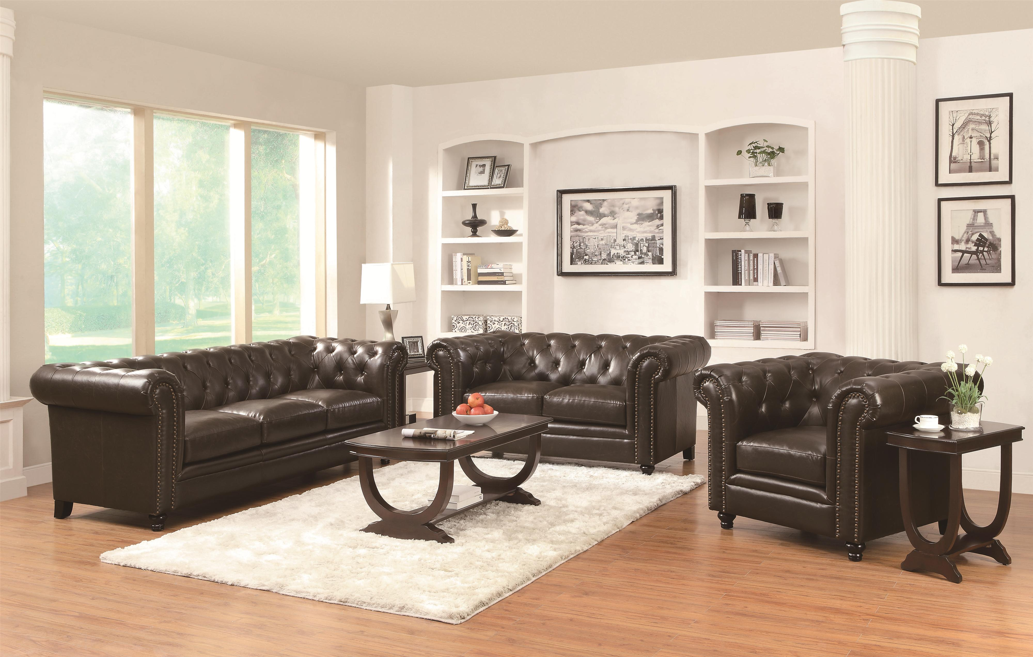 Leather Sofas Traditional Living Room Set Co 504551 for 10 Awesome Ways How to Craft Traditional Leather Living Room Sets