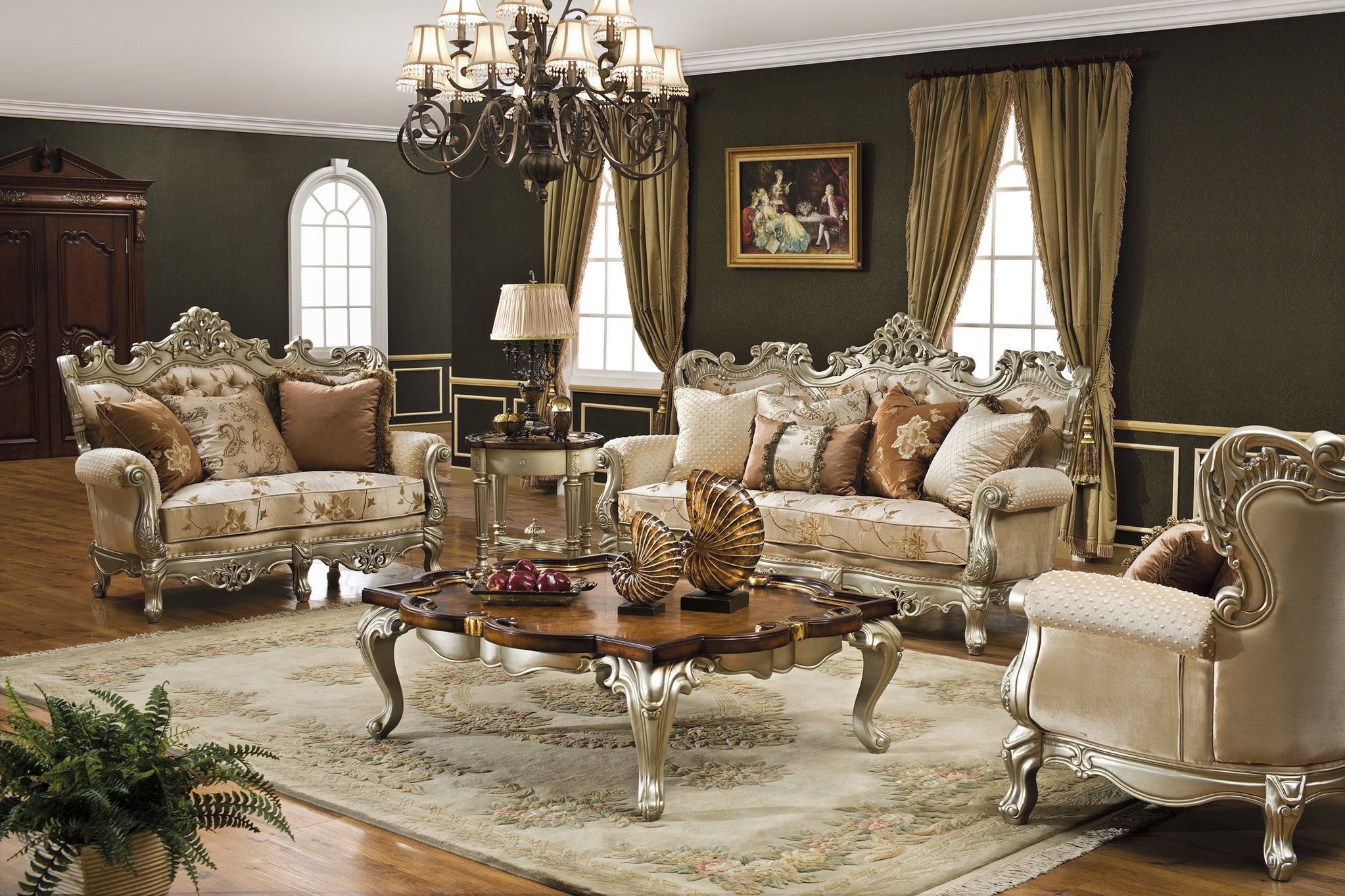 Living Room Furniture Living Room Sets Sofas Couches Traditional inside Fancy Living Room Sets