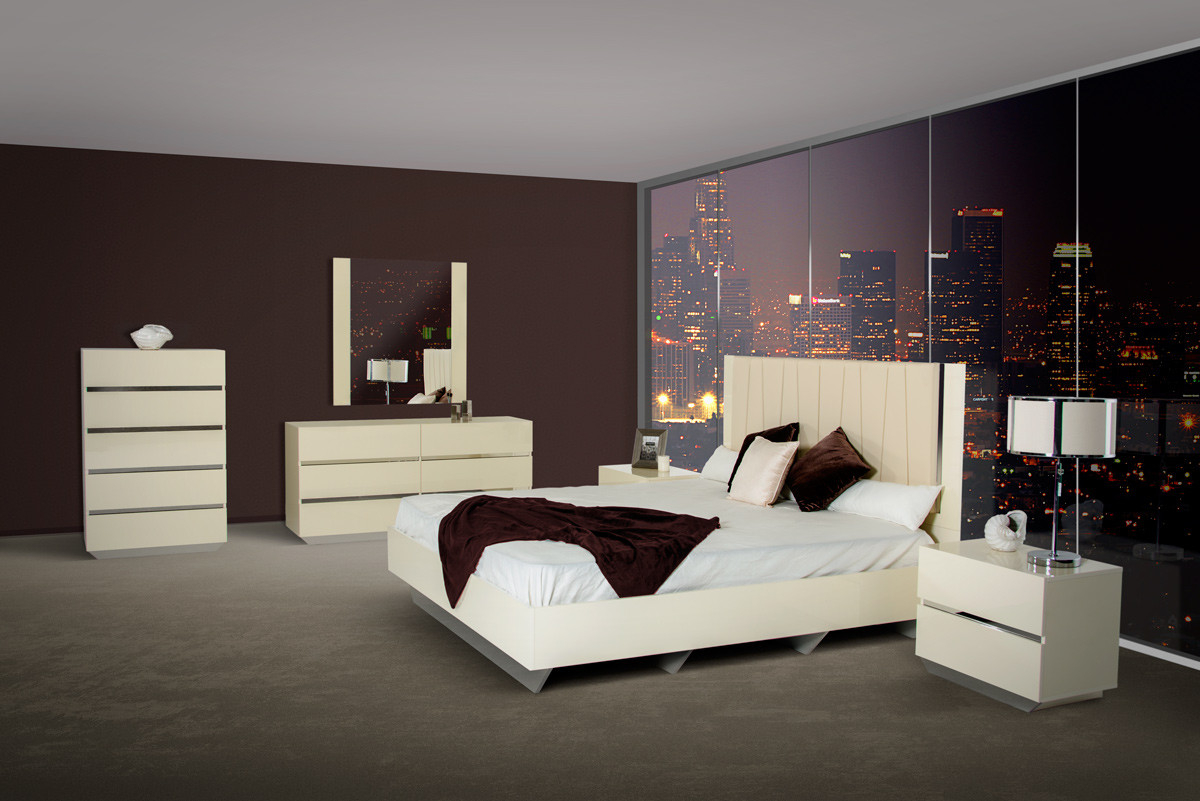 Luxor Modern Beige Lacquer Italian Bedroom Set pertaining to 14 Some of the Coolest Ideas How to Improve Modern Italian Bedroom