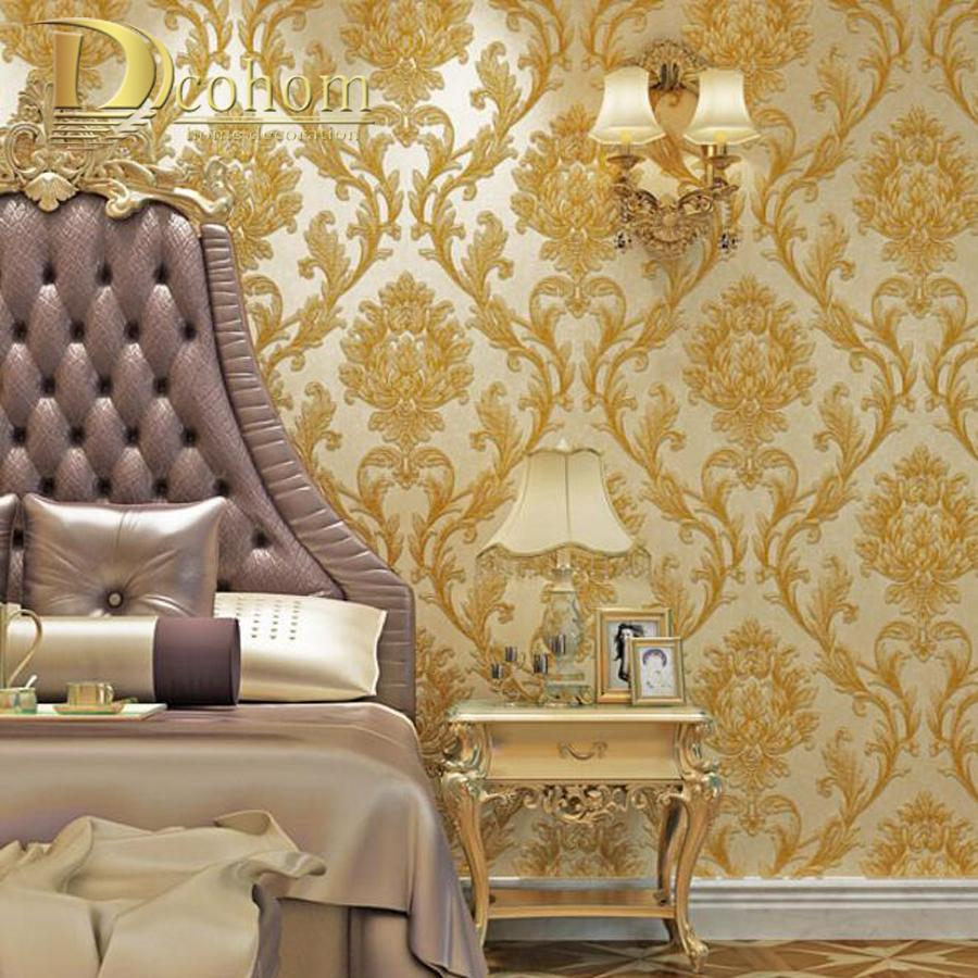 Luxury Simple European 3d Striped Damask Wallpaper For Walls Decor inside 12 Smart Designs of How to Improve Modern Wallpaper For Bedroom
