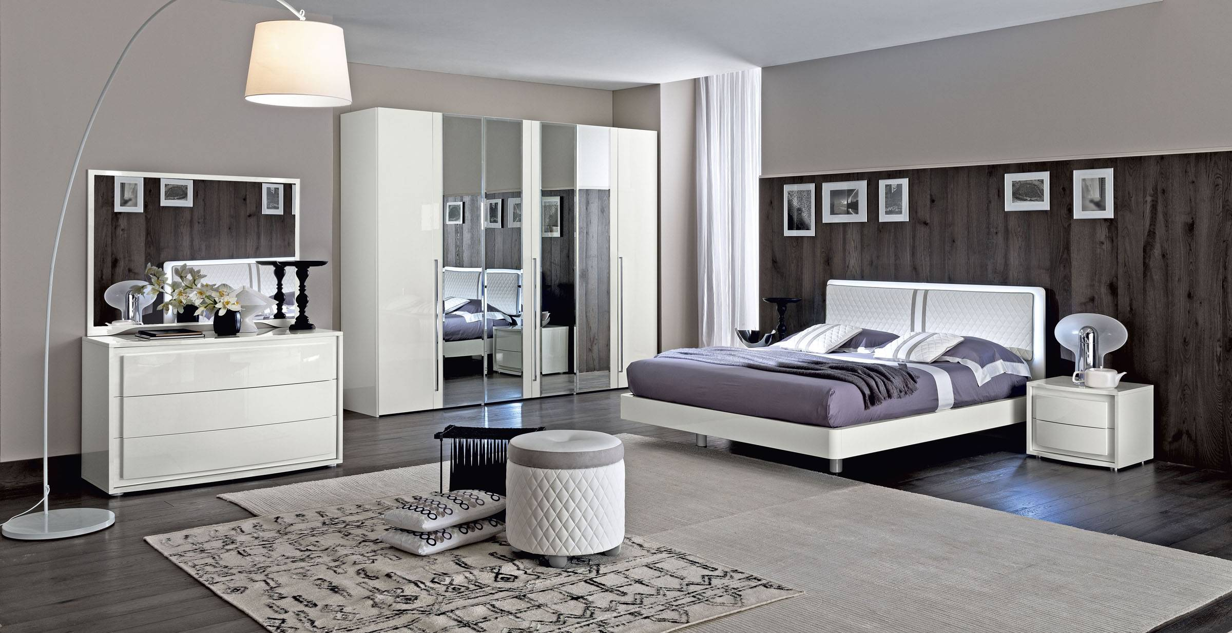 Made In Italy Wood Modern Contemporary Master Beds Tempe Arizona Esf pertaining to Italian Modern Bedrooms