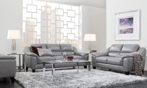 Marielle Gray Leather 3 Pc Living Room All Things Home Leather with regard to Rooms To Go Living Room Sets