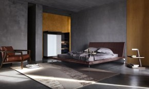 Minimalist Masculine Bedroom With Grey Walls And Modern Furniture with regard to Modern Male Bedroom