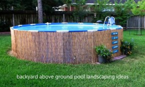 Modern Backyard Backyard Above Ground Pool Landscaping Ideas Small within 10 Awesome Ideas How to Make Above Ground Pool Backyard Landscaping Ideas