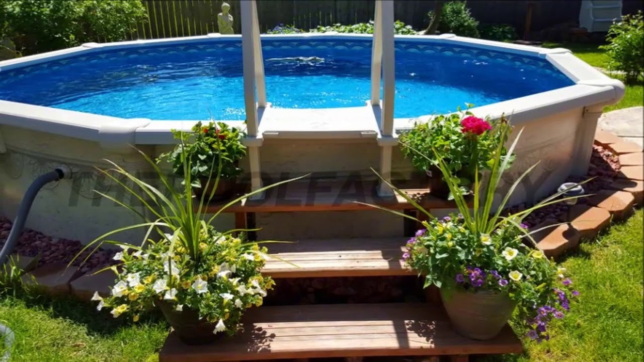Modern Backyard Backyard Designs With Above Ground Pool Small inside 10 Awesome Tricks of How to Improve Backyard Pool Deck Ideas