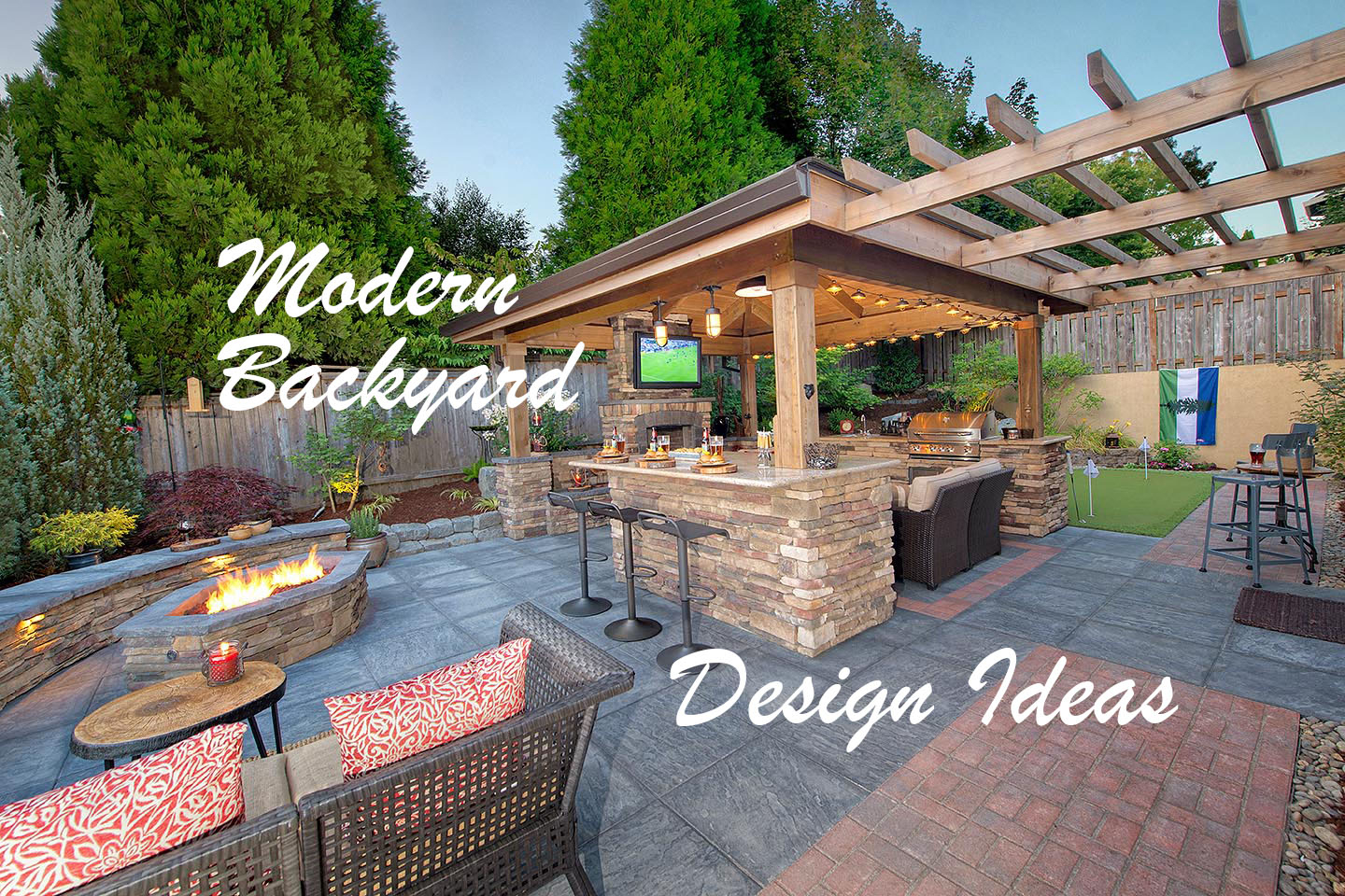 Modern Backyard Design Ideas Paradise Restored Landscaping regarding Modern Backyard Ideas
