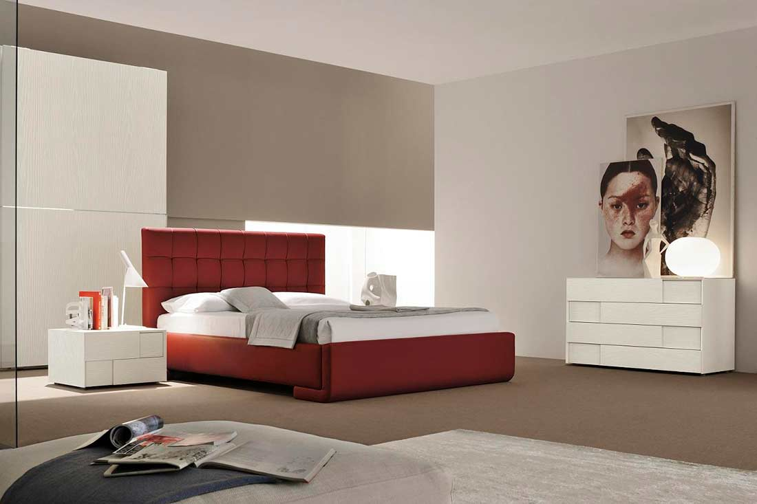 Modern Italian Red Eco Leather Bed Vg Luxury Modern Bedroom within 10 Genius Tricks of How to Makeover Italian Modern Bedrooms