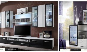 Modern Wall Unit Tv Display Living Room High Gloss Led Furniture throughout 13 Clever Ideas How to Improve Living Room Sets With Free TV